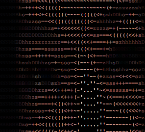 Ascii art to the 3rd degree